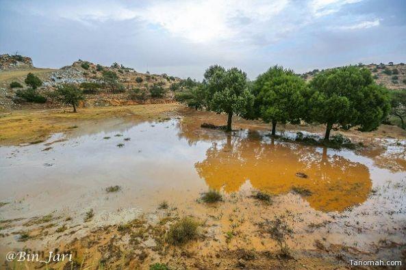"""بعدسة """"عبدالله بن جاري""""  صور أمطار النماص"""