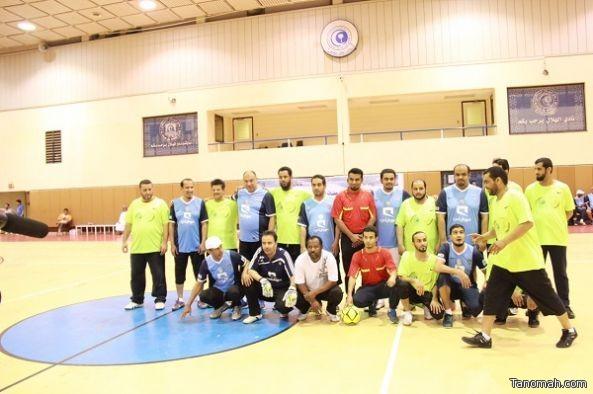 مباراة ودية بين منسوبي نادي الهلال ومنسوبي جمعية البر بالعريجاء بحضور رئيس نادي الهلال