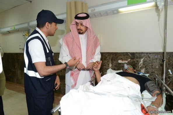 بالصور:أمير عسير يتفقد المصابين بمستشفى عسير المركزي