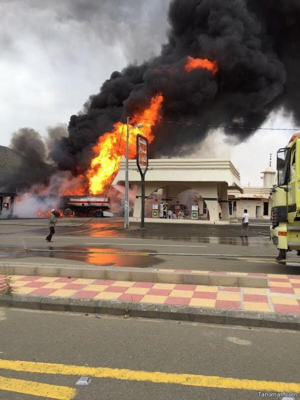 أربعة مراكز دفاع مدني تشارك في إطفاء حريق محطة سدوان