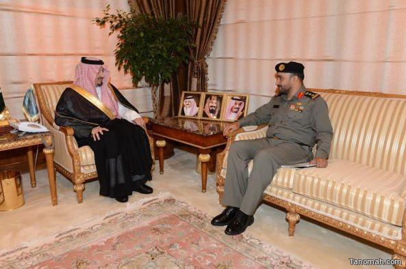 أمير عسير يستقبل العقيد الشهري قائد قوة الأفواج بالمنطقة