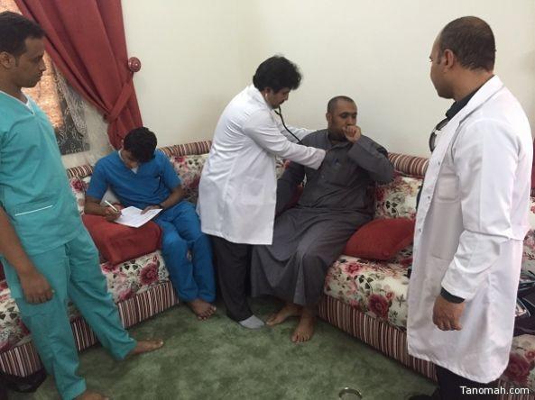 فرق الطب المنزلي تواصل متابعتها لعلاج مصابي تفجير مسجد الطواري بعسير
