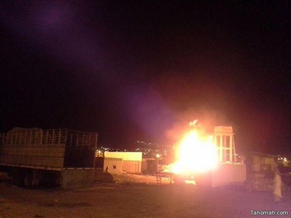 """مدني تنومة يخمد حريق شب في """"نفايات"""""""