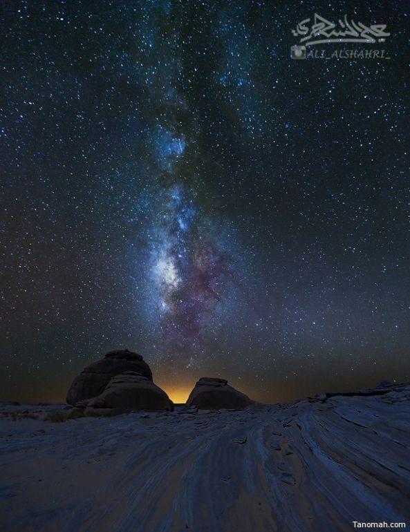 لقطة لمجرة درب التبانة من جنوب تيماء 16-12-1436هـ