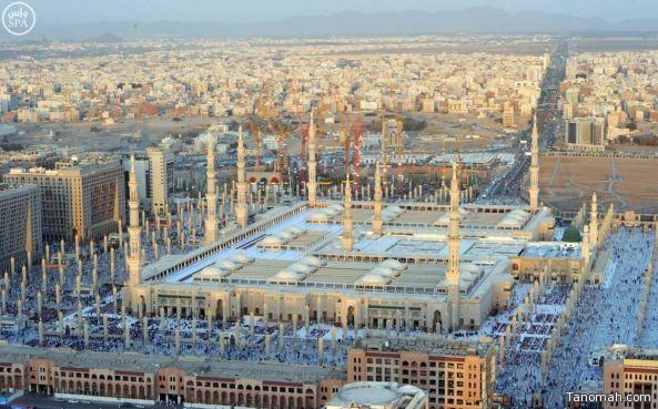 صور:  التوسعات الجارية بالمسجد النبوي بالمدينة المنورة