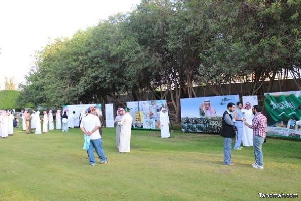 """نادي العمل التطوعي بجامعة الملك خالد يقيم فعالية """"شكراً مملكتي"""""""