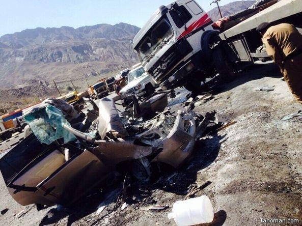 ٣وفيات واصابة بليغة  في حادث مروري بشعار