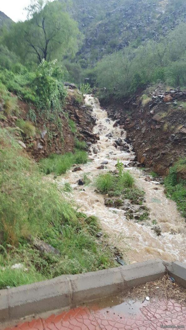 الامطار التي هطلت على عسير اليوم وفق بيان الدفاع المدني