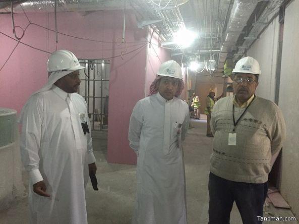 """""""الهيجان""""  يتفقد مشروع البنية التحتية لمستشفى عسير المركزي"""