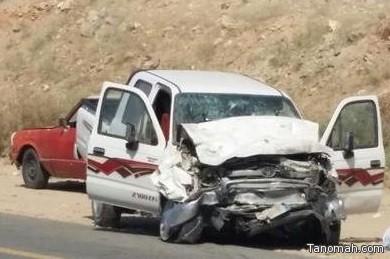 وفاة وإصابة أربعة أشخاص في حادث بالمجاردة