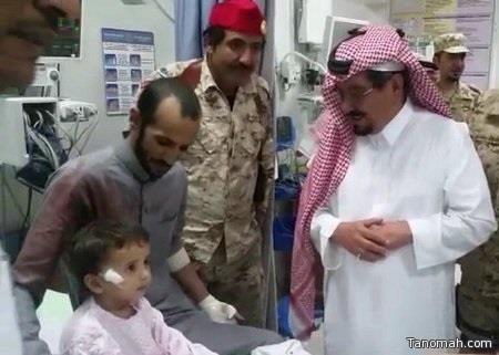 مقذوف عسكري من الأراضي اليمنية يصيب طفلاً في نجران