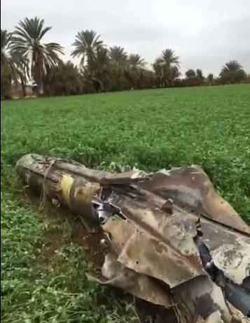 #فيديو: لصاروخ #سكود الذي تصدت له #قوات_الدفاع_الجوي واسقطته في #نجران