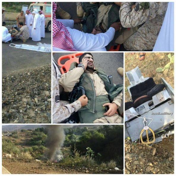 بالفيديو:سقوط طائرة بحرينية من نوع F16 في منطقة جازان