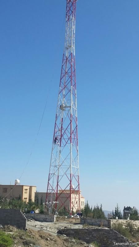 أبراج جديدة لتعزيز خدمات الاتصالات في #تنومة
