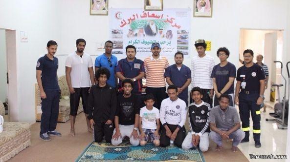 المؤسسة الخيرية لرعاية الأيتام تقيم معسكر بحري بمركز البرك للتدريب على الأسعافات الاولية