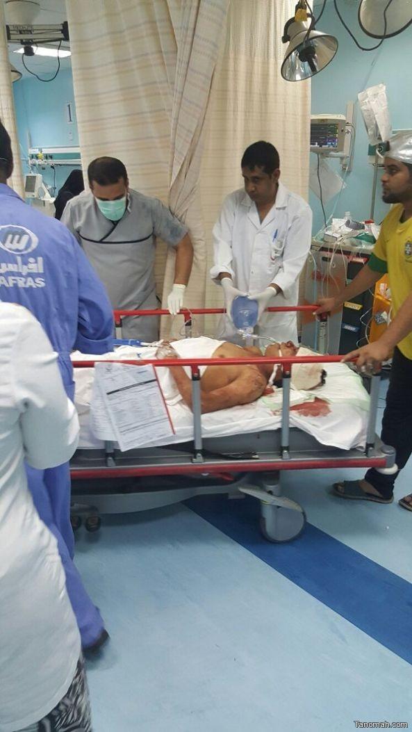 طوارئ مستشفى محايل تستقبل 10 اصابات على اثر حادث مروري