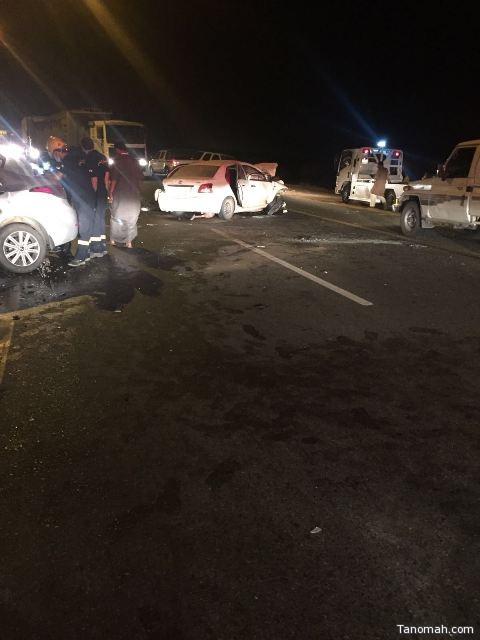 حادث يودي بحياة شخص ويصيب أخر في #بارق