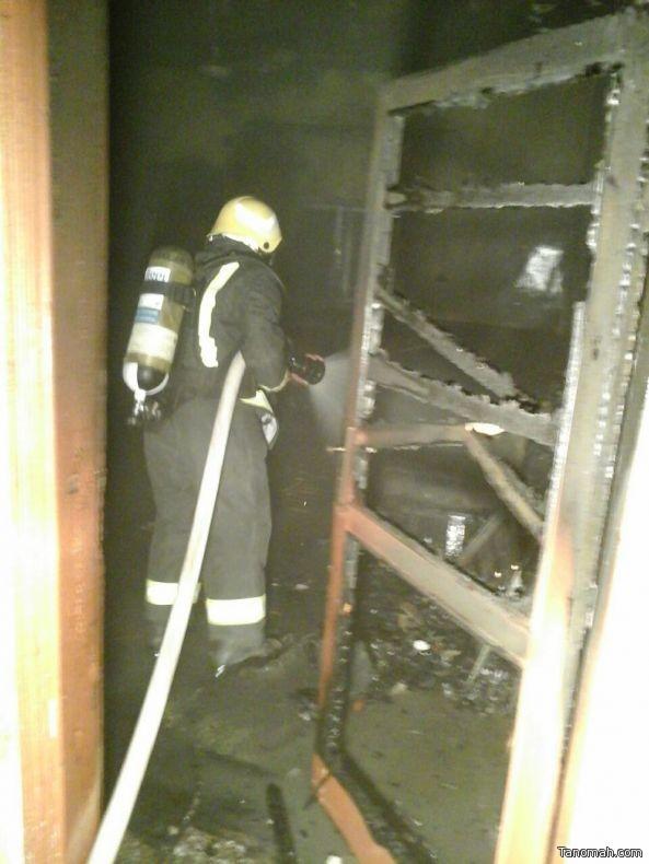 اخماد حريق في منزل بـ #بيشة