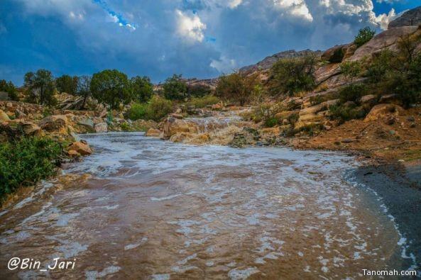 أمطار على محفاظات #تنومة و #النماص و #بلقرن و #بيشة