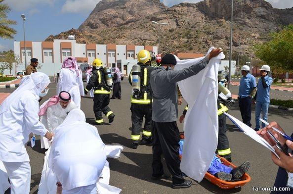 خطة فرضية ناجحة بمستشفى #تنومة وحضور قياسي للدفاع المدني