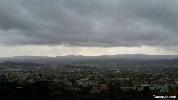 #أمطار على #تنومة وعدد من محافظات #عسير