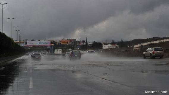 هطول أمطار ما بين الغزيرة والخفيفة على بعض محافظات #عسير