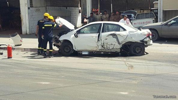 اصابات في حادث وقع نتيجة اهمال مقاول في #تنومة