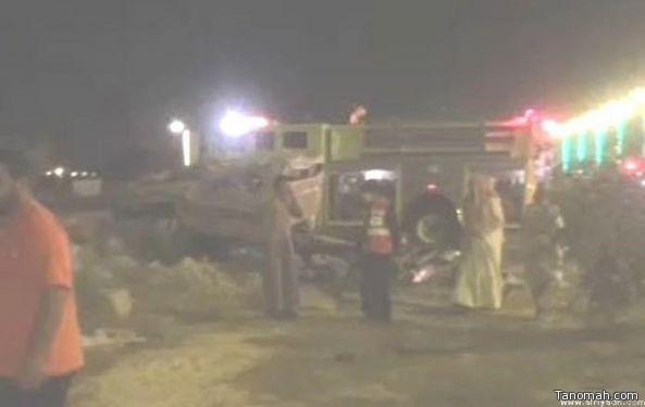 الهلال الأحمر: وفاتان وحاله حرجة في حادث #تنومة