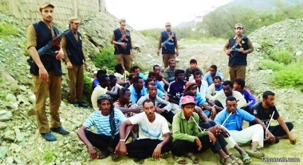 شرطة عسير تقبض على عدد من المتسللين ضمن حملاتها الأمنية