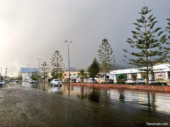 أمطار خفيفة إلى متوسطة على #تنومة