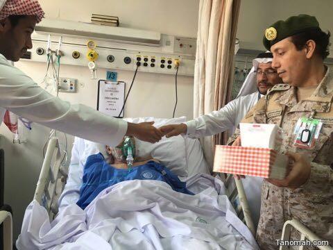 العميد / الغامدي : يعايد المصابين والمرضى المنومين بمستشفيات القوات المسلحة بالجنوب