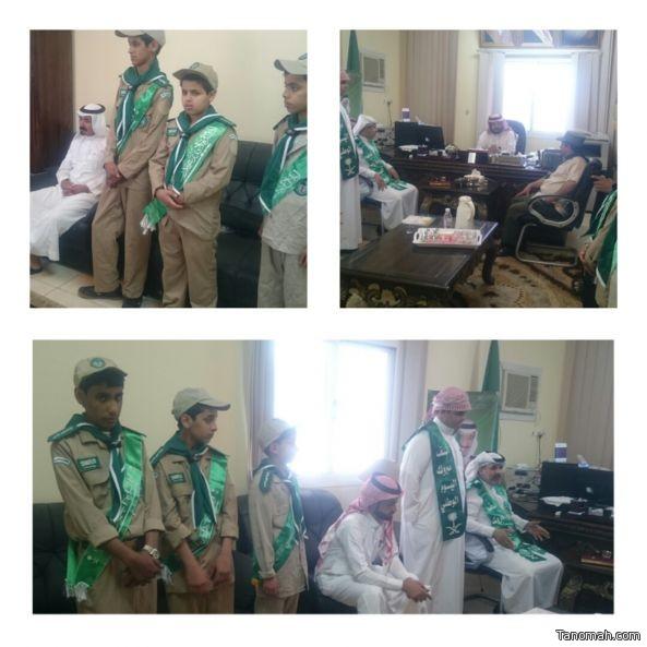 مدير تعليم #بني_عمرو يتلقى التهاني باليوم الوطني من مجمع ابن القيم