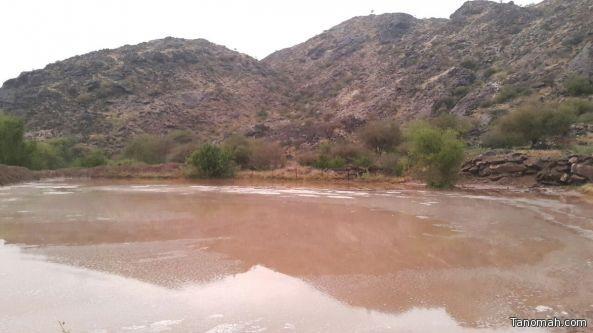 أمطار على محافظة بارق