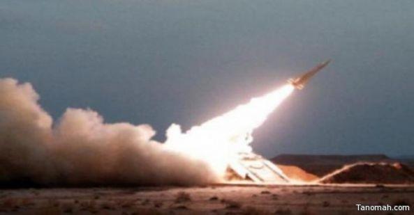 اعتراض صاروخًا باليستيًا أطلقته المليشيات الحوثية باتجاه #خميس_مشيط