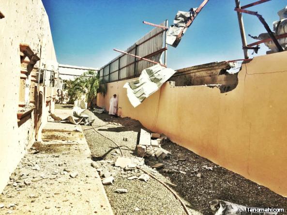 سقوط مقذوفات عسكرية من داخل الأراضي اليمنية على حي الحضن بمدينة نجران
