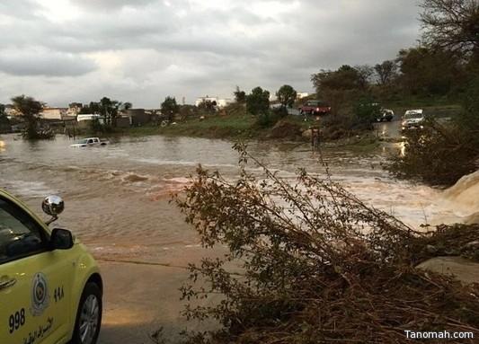 حالة وفاة واحدة وإنقاذ 132 شخصاً جراء #أمطار #المملكة