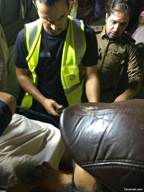 انقاذ ستيني سقط من منحدر في #بلقرن