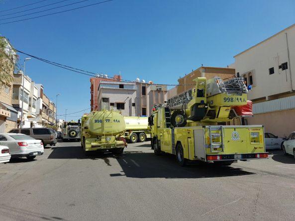 حالتي اختناق في #حريق شقة بخميس مشيط