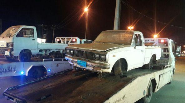 بلدية #بارق تزيل أكثر من ٤٠ سيارة تالفة
