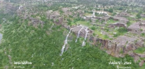 بالفيديو: الخضرة والماء في #تنومة ترسم لوحة فنية مذهلة