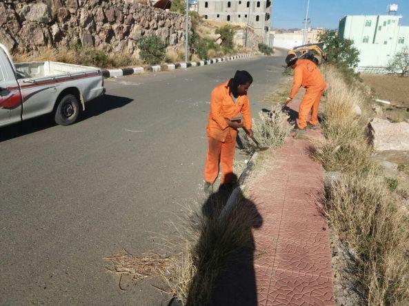 بلدية #تنومه تواصل اعمال الإصحاح البيئي