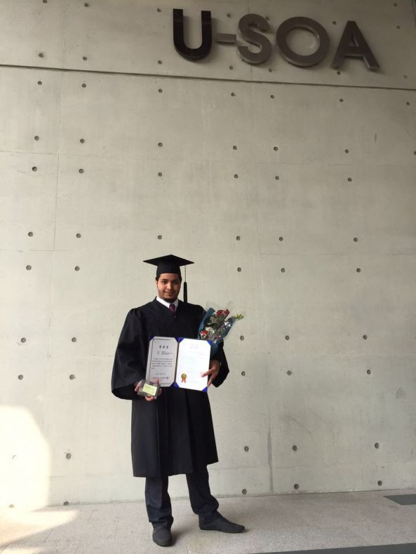 #القرني يحتفل بتخرجه مهندسا معماريًا من جامعة أولسان