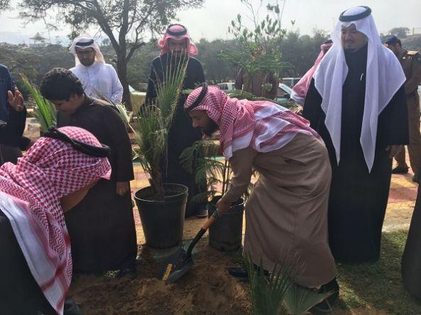 الهزاني  يدشن فعاليات أسبوع الشجرة بمحافظة تنومة