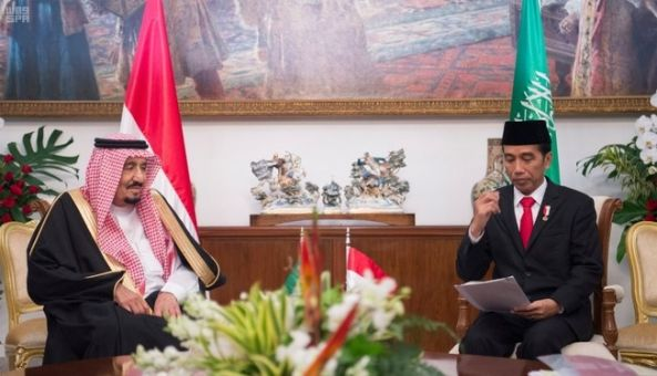 خادم الحرمين ورئيس جمهورية إندونيسيا يعقدان جلسة مباحثات رسمية