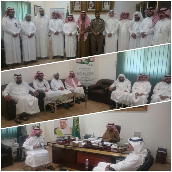 مكتب التعليم ببني عمرو يهنئ الأحمري بمناسبة تعيينه رئيساً للمركز