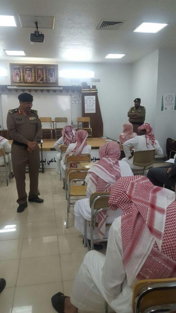 نزلاء سجن أبها يؤدون الامتحانات للفصل الدراسي الثاني لعام ١٤٣٨