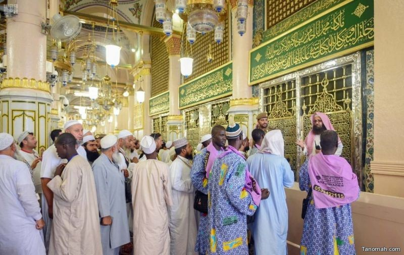 مشاهد إيمانية من داخل #المسجد_النبوي