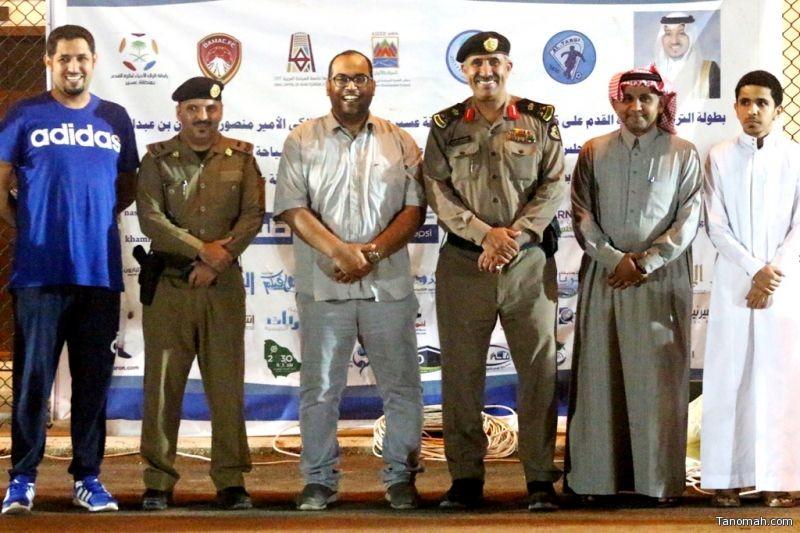 #الترجي_10 : مدير شرطة عسير يشرف لقاء البراق وصقور القاعدة