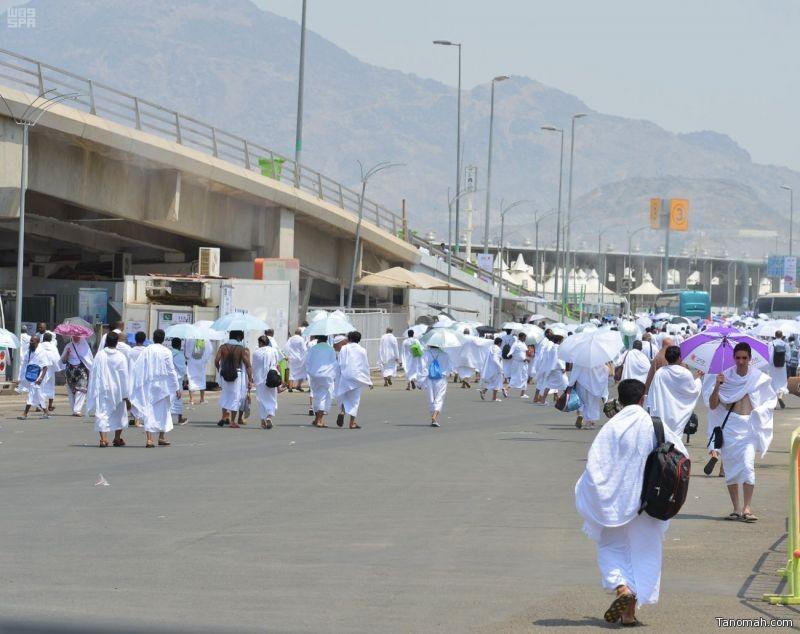 #صور:اكتمال وصول حجاج بيت الله الحرام إلى مشعر منى لقضاء يوم التروية