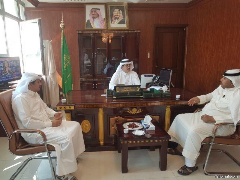 محافظ #المجاردة يستقبل أمين و أعضاء اللجنة الثقافية لتهنئته بعيد الأضحى المبارك
